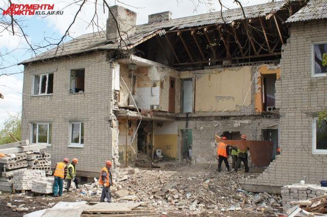 Взрывом были разрушены несколько квартир.