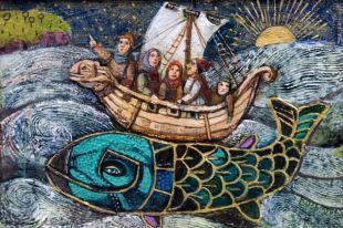 Картины Лидии Козьминой погружают зрителя в сказки и легенды края.