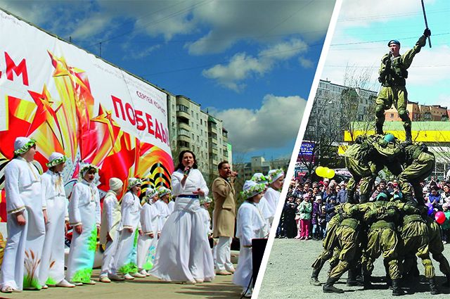 Жители с удовольствием смотрели выступления творческих коллективов и военнослужащих