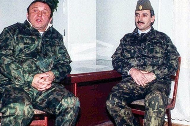 Павел Грачев и Джохар Дудаев во время встречи 6 декабря 1994 года.