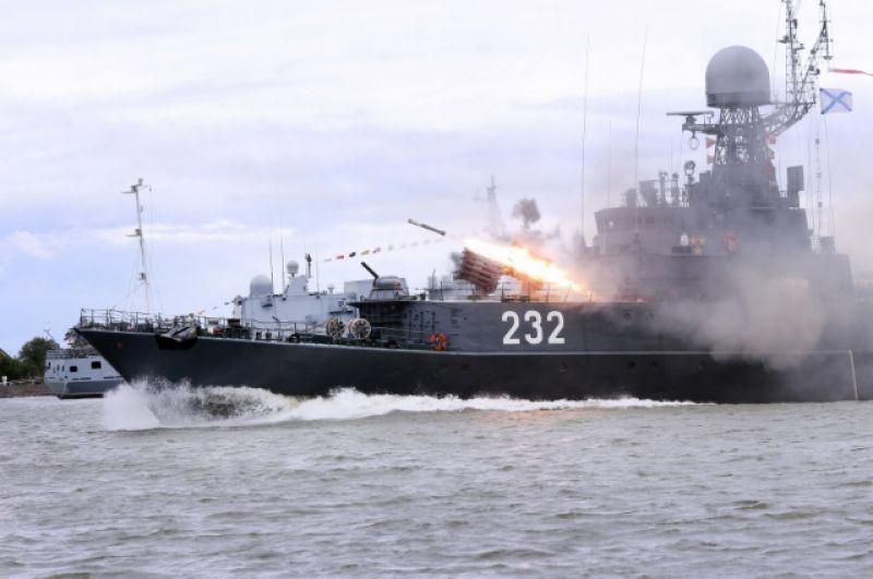 Малый противолодочный корабль «Калмыкия» проекта 1331M в составе флота находится с 1990 года.