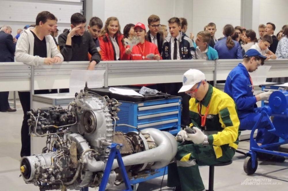Компетенция «Обслуживание авиационной техники» и двигатель от вертолета Ми-2.