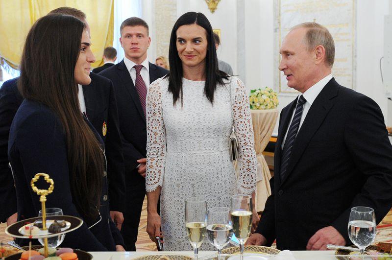 Торжественный прием в Кремле по случаю вручения наград победителям и призерам Олимпийских игр в Рио-де-Жанейро. 2016 год.