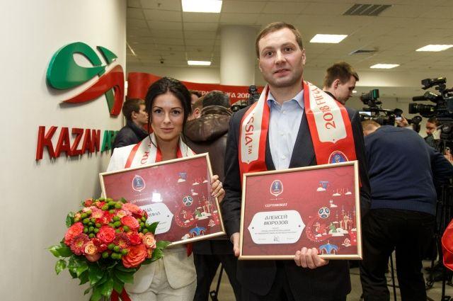 Нюша и экс-капитан «Ак Барса» Алексей Морозов стали послами FIFA-2018