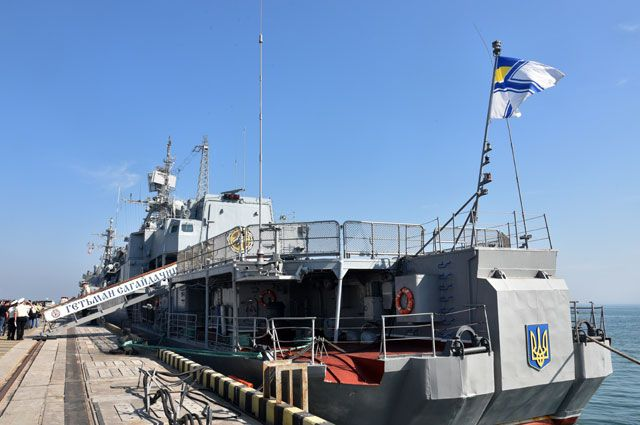 Украинский фрегат «Гетман Сагайдачный».