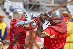 Фрагмент боя в номинации «Триатлон», раунд «Длинный меч»