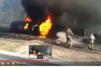 Ликвидация последствий ДТП с бензовозом в Шелеховском районе.