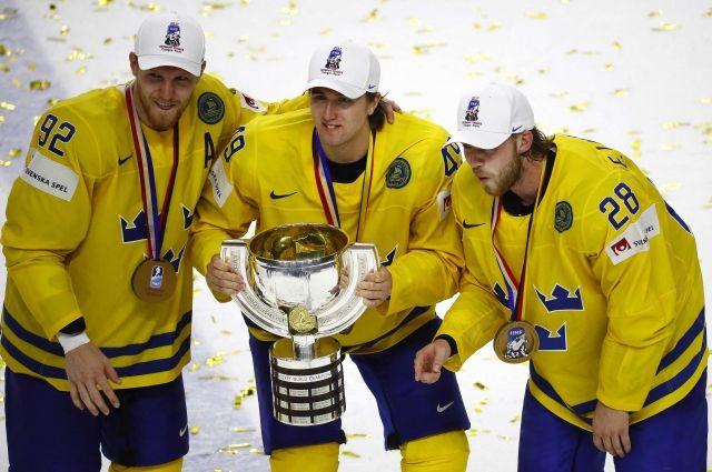 Сборная Швеции в десятый раз завоевала золото чемпионата мира похоккею
