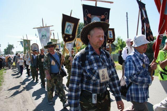 Крестный ход в село Коробейниково - 2014 год
