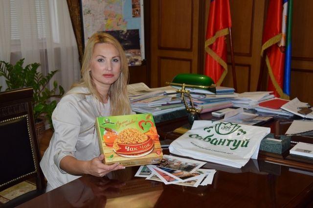 Татьяна Гамалей повстречалась спредседателем Сообщества татар Дагестана