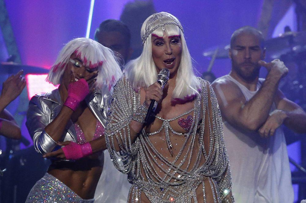 Певица Шер на Billboard Music Awards.