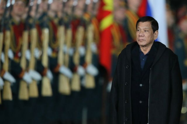 Президент Филиппин Дутерте прибыл в столицу