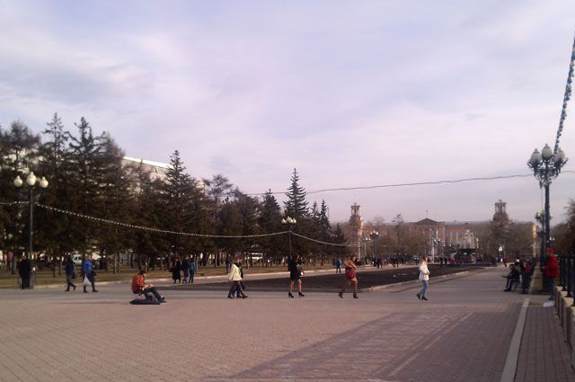 Жаркая весна в Иркутске.