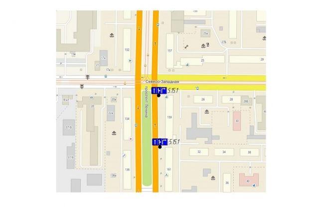 Схема проезда перекрестка С.-Западная-Ленина
