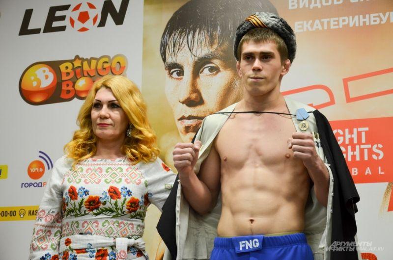 Виктор Кичигин (Подмосковье) с тренером (это его мама).