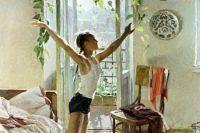 Фрагмент картины Татьяны Яблонской «Утро».