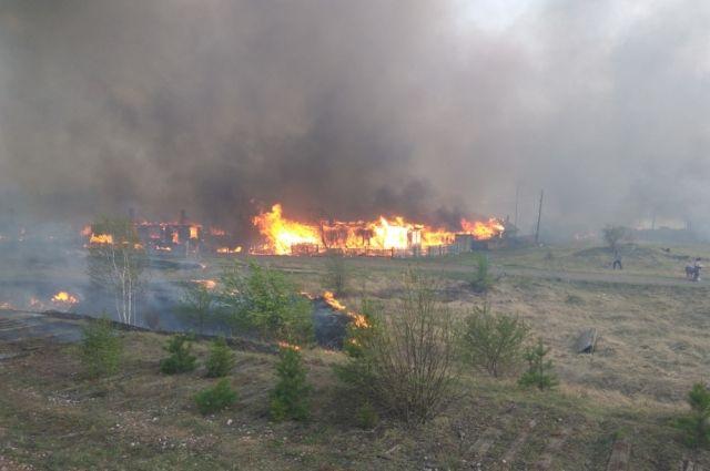 Всего от огня пострадали около 130 домов, без крова остались 533 человека, из них 67 детей.