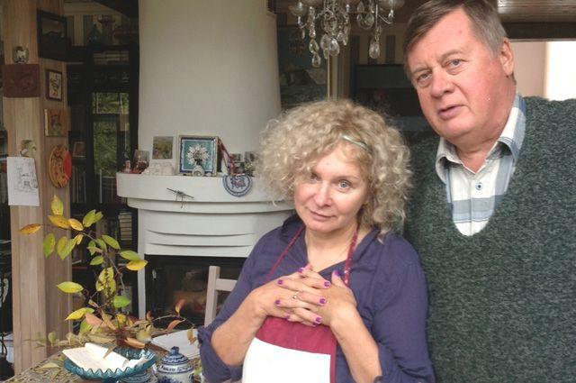 У семейного очага. Татьяна Архипцова с мужем Андреем.