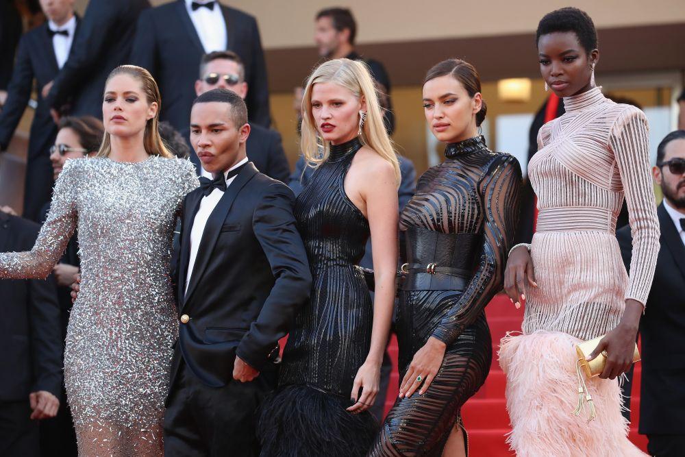 На Каннском кинофестивале можно встретить множество моделей одновременно