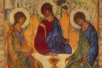 «Троица». Фрагмент иконы Андрея Рублёва
