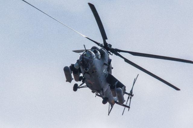 ВТюмени «приземлился» боевой вертолет