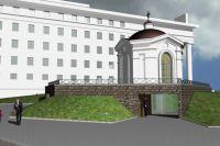 Проект часовни святого Фаддея Петрозаводского на площади Кирова в Петрозаводске