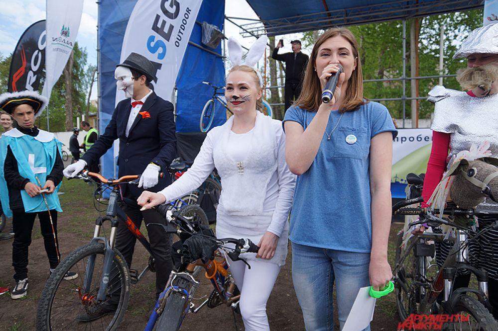 Кроме того, зрители выбрали велосипедиста в самом необычном костюме.