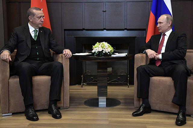 Путин и Эрдоган обсудили ситуацию в Сирии и «Турецкий поток»