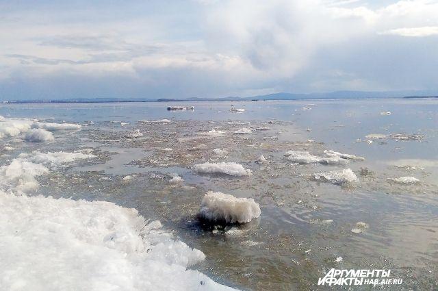 На Енисее кромка льда находится в Туруханском районе у населенного пункта Курейка.