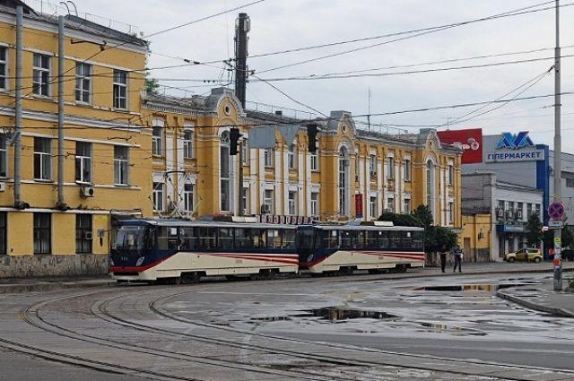 ВКиеве срельс сошел городской трамвай
