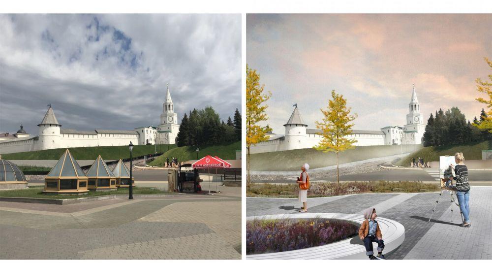По мнению архитекторов, начало улицы Бумана, несмотря на близость к Кремлю, пустое, есть смысл наполнить его новым содержанием и вдохнуть жизнь.