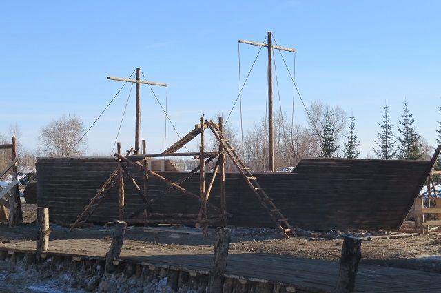 Корабль из Тюмени для фильма «Тобол» прибыл к месту съемок