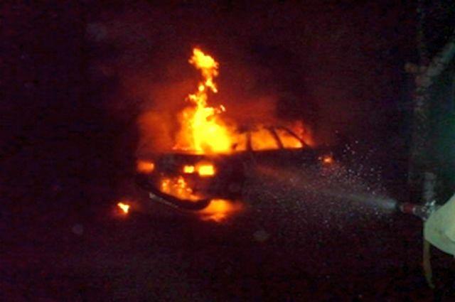 Ночью вПронске сгорел автомобиль