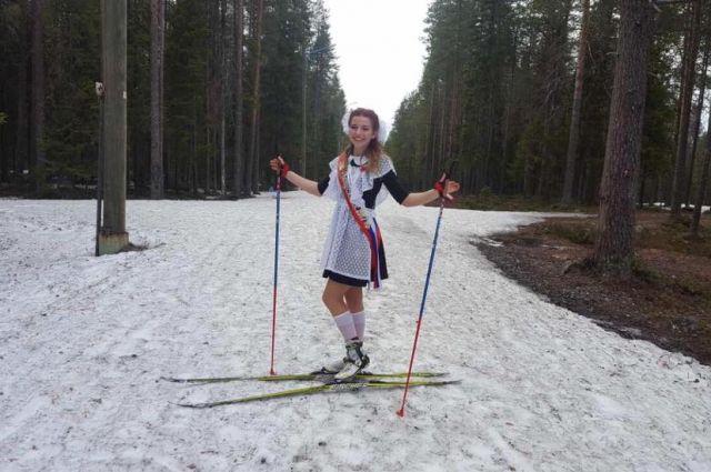 «Последний звонок» на лыжах отмечали в этом году карельские выпусники