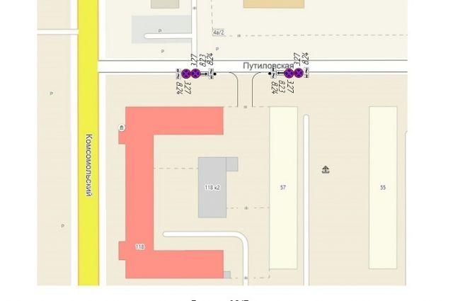 Схема установки дорожных знаков на ул. Путиловская в Барнауле