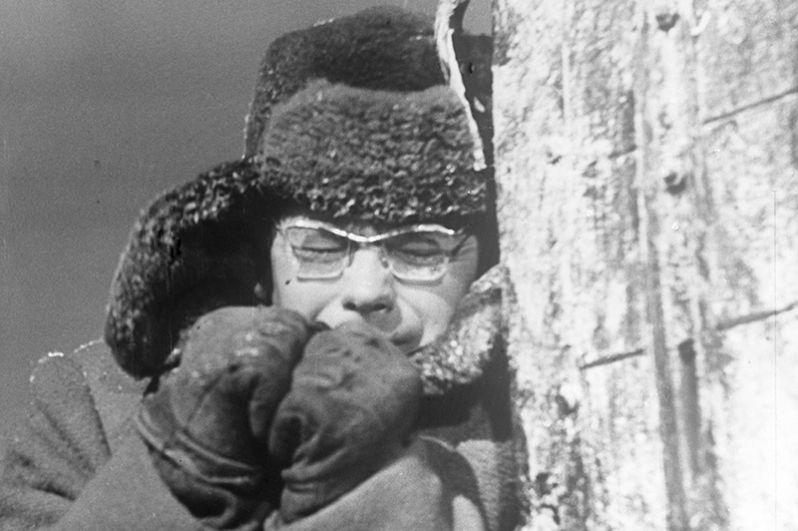 Александр Демьяненко в роли Сироткина в картине Владимира Венгерова «Порожний рейс». 1962 год.