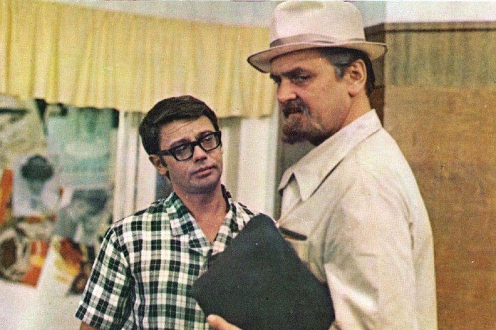 В роли инженера Тимофеева в фильме «Иван Васильевич меняет профессию». 1973 год.