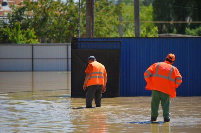 Паводок в Затоне повредил жилые дома.