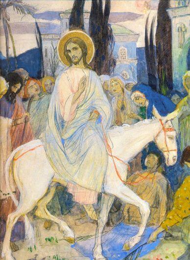 Картина Михаила Нестерова «Вход Господень в Иерусалим».