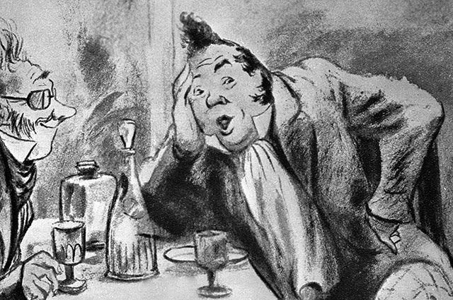 Иллюстрация Кукрыниксов кпоэме Николая Гоголя «Мертвые души».