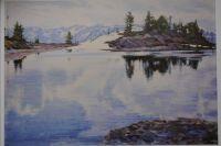 """Картина """"Небесное озеро"""", написанная в 2001 году."""