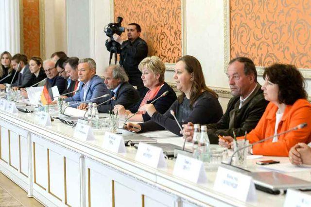 На встрече с делегацией баварского парламента Федеративной Республики Германии обсуждались возможные направления сотрудничества.