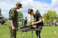 Ямальские школьники прошли подготовку в воинской части Кургана.
