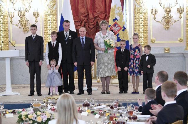 Семья Новик в Кремле