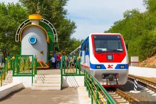 Оренбургская детская железная дорога открыла новый сезон