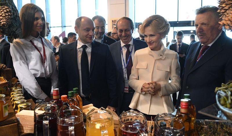 Заместитель председателя Государственной Думы РФ Ирина Яровая на Санкт-Петербургском международном экономическом форуме 2017.