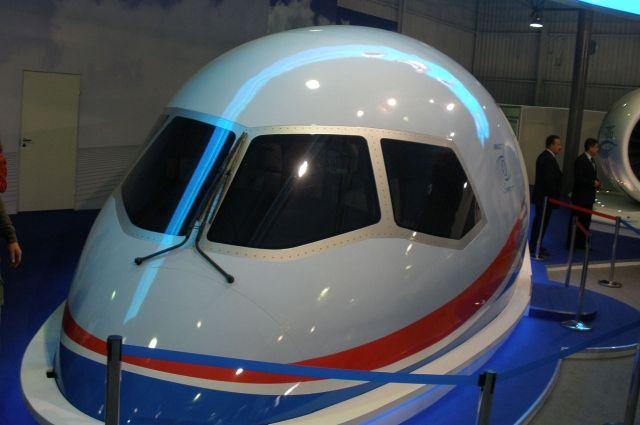 Кабина самолета МС-21.