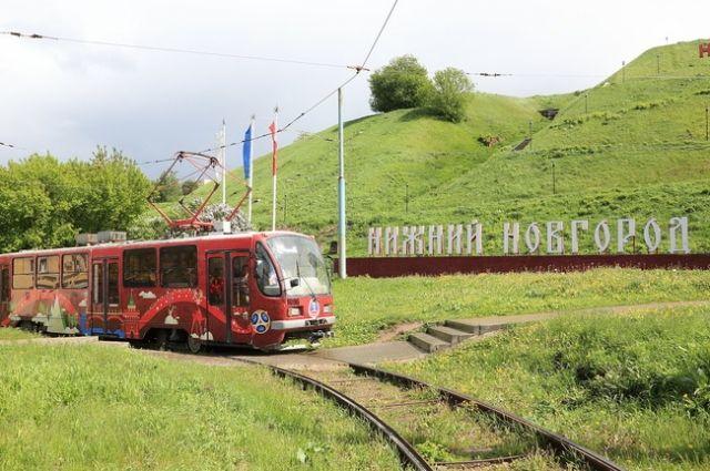 Футбольный трамвай появился на дорогах Нижнего Новгорода