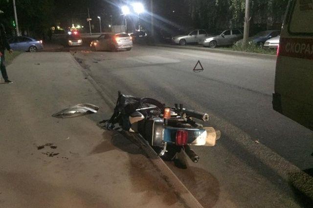 Повине мотоциклиста вРязани случилось ДТП