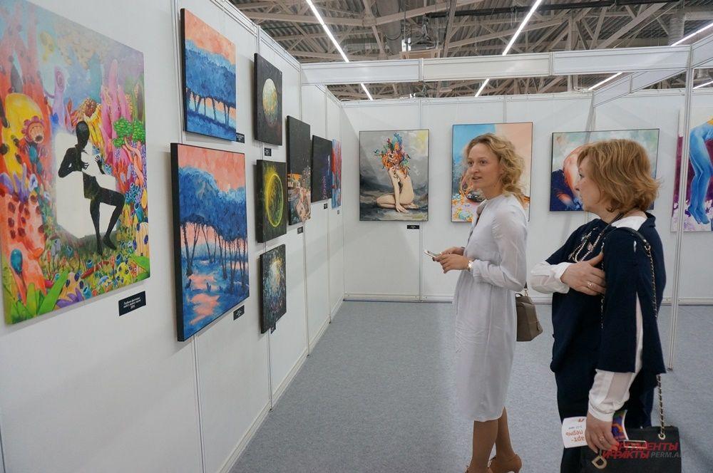 На выставке также представлены работы пермского стрит-артиста Вячеслава Moff